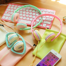 Cute Children Headset Comfortable Candy Color Foldable Stereo Headphone with Microphone Daughter Earphone for iphone Kid Gift