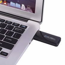M-1200MAC Standard Wireless USB Adapter Dual Band Laptop PC High Wireless Transmission Rate Network Lan Card Black