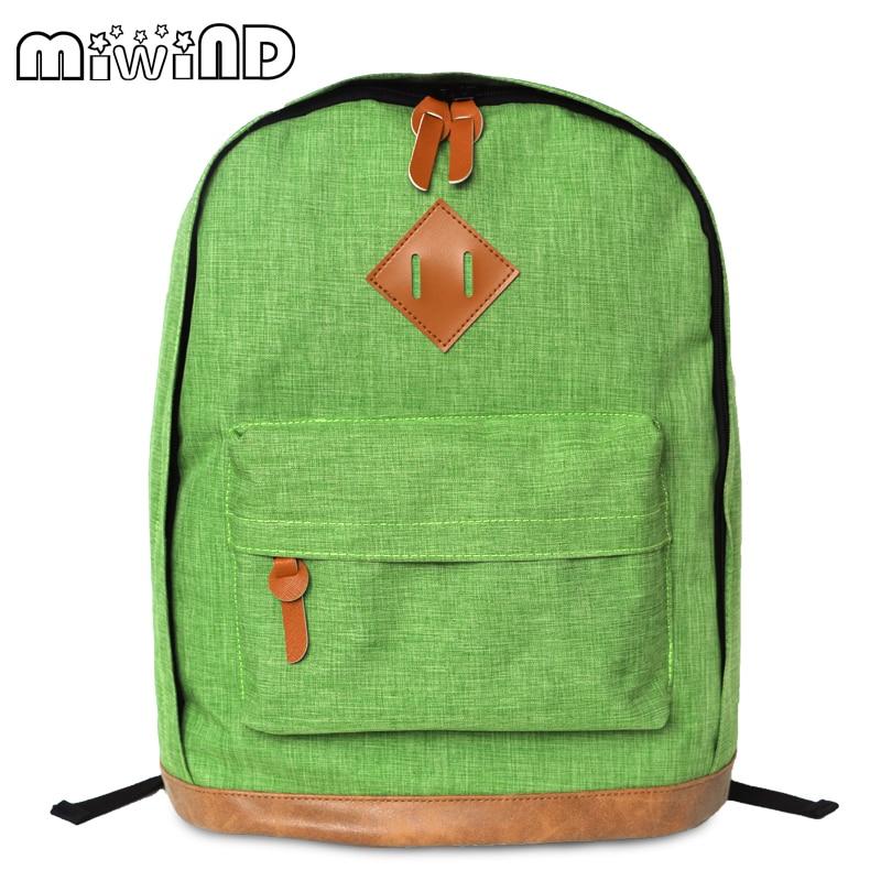 Miwind designer Women Backpacks Nylon Waterproof Travel Bags Green School Bags For Teenagers Girls Shoulder Bags Mochila Feminin<br><br>Aliexpress