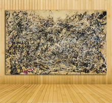 2017 Jackson Pollock Number 1A Still life Abstract oil Painting Drawing art Spray Unframed Canvas miniature picture brass