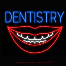 Neon Sign Dentistry Mouth Smile Real Glass Tube Handcrafted neon signs Custom Health Store Display ADVERTISE Free Design 31x24(China)