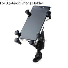 Universal Adjustable Motorcycle Bike Bicycle Phone Holder Shockproof Handlebar Mount For Samsung S6 LG Sony Iphone 6 6s 7 Plus 8(China)