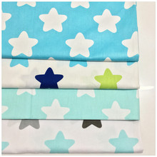 1269419,New Blue Stars Series Printed Cotton Fabric Telas Bundle DIY Patchwork Sewing Baby Toy Material Quilting Bedding Tecido(China)
