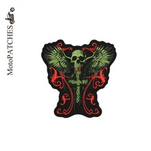 Biker MC Patches For Clothes Angel Cross Skull Embroidery Scale Harley DIY Personalized Patches