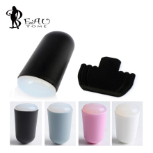 2015 1Pcs New Jelly Nail Art Stamp Tool Stamp Scraper Bullet handle Ukraine soft Stamp scraper Supersoft silicone High Quality