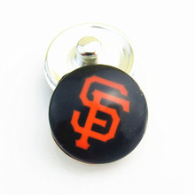 MLB Baseball San Francisco giants Snap Button Charm for 18mm Snap jewelry Fit  Snap Bracelet/Necklace