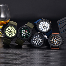 100pcs/lot Wholesale Watches Mens Nylon Band Date Stainless Steel Back Quartz Wristwatch XINEW Brand 5 Colors Military Clock Hot(China)