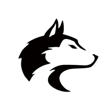 2017 Hot Sale Car Stying Pet Dog Sled Wolf Canine Coyote Snow Car Window Sticker Decal Jdm(China)