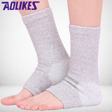AOLIKES 1PCS Elastic Ankle Brace Support Band Sports Foot Ankle Protects Bamboo Ankle Wraps Badminton protective Ankle Brace(China)