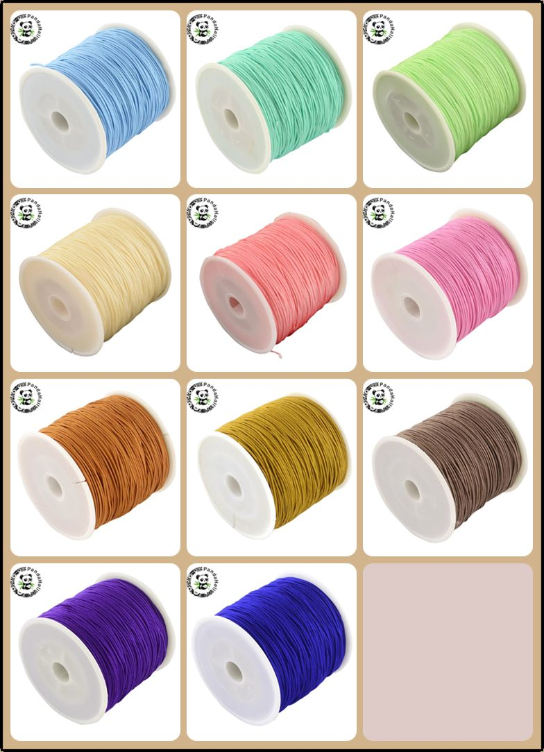 0.8mm 90m/roll Nylon Thread Cord For Bracelets Beading Necklace Jewelry DIY Accessories Making 24