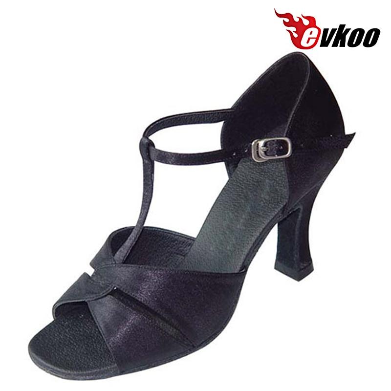 Evkoo Dance Black Khaki White Sain Woman Cheap Salsa Shoes Leather Soft Sole Hot Sale Evkoo-134<br><br>Aliexpress
