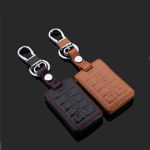 car styling For Cadillac SLS CTS XTS ATS Seville 5 Buttons Smart Car Key Leather Cars Keys Case  cover Auto Accessories