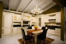 classical glaze white kitchen cabinets(LH-SW071)(China)