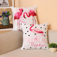 Pink Flamingo Pillow Cover Home Decor Supersoft Velvet  Cushion Cover Pillow Case/sofa cushions decorative Throw Pillows 45x45cm