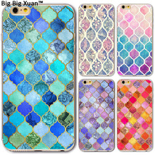 Newest Fashion Colorful Phone Cases Soft TPU For Apple Iphone 7 7Plus Luxury Relief Squares Back Covers Phone Shell Celular Bags(China)