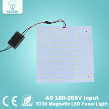 Free Shipping180-265V LED Panel Lamp Square 10W 15W 18W 20W 25W 35W 5730 Magnetic LED Ceiling Panel Light Plate Aluminium Board(China)