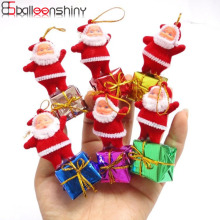 BalleenShiny 5 pcs/set Christmas Tree Decoration Santa claus Pendant Ornaments Xmas New Year Decor Festival Supplies Wholesale