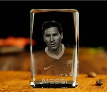 Christmas novel Unique best gift # great footballer Messii Lionel 3D crystal art--BEST business NEW YEAR present with box(China)