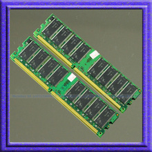 NEW 2GB 2X1GB PC2100 266MHZ  DDR 266 PC-2100 184PIN Low Density DIMM Desktop Memory CL3 RAM Module Free shipping