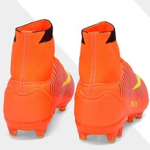 2017 Original Teenagers' FG Cleats Soccer shoes High Ankle Football Training Boots Outdoor Antiskid Match Sneakers Professional