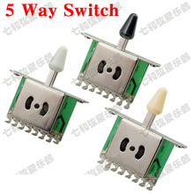 3 Pcs 5 Way Selector Electric Guitar Pickup Switches, Guitar Toggle Lever Switches. Guitar Parts 3 Colors Knob