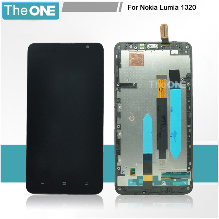 Black LCD Display Screen touch Digitizer Assembly with frame For Nokia Lumia 1320 Replacement Free Shipping<br><br>Aliexpress