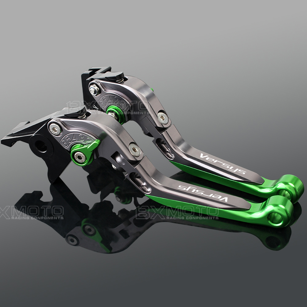 Cnc Aluminum green accessories Motorcycle Brake Clutch Levers For Kawasaki VERSYS 1000 2012-2017 VERSYS 650 2006-2008 2015-2017<br>