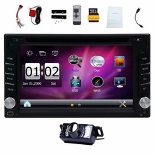 2 Din Car cassette DVD Player GPS Navigation in-dash Stereo HD Digital Touch Screen radio Video Audio Player Supports FM AM