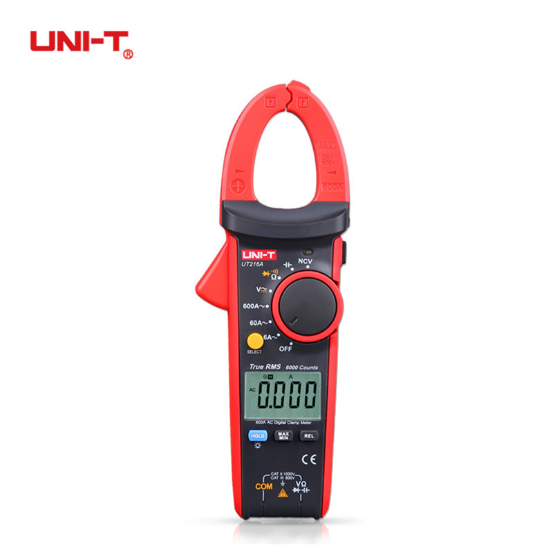 UNI-T UT216A 600A True RMS Digital Clamp Meters Handheld Auto Range Multimeters Capacitance Temperature &amp; NCV Test Megohmmeter<br>
