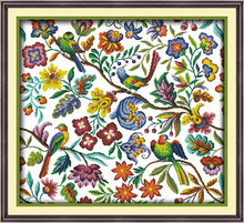 Birds' twitter and fragrance of flower Counted or Stamped Cross-Stitch Needlework  DIY DMC Cross stitch,Sets For Embroidery kits