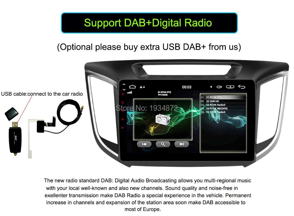 Android 6.0 CAR Audio DVD player FOR HYUNDAI ix25CRETA gps Multimedia head device unit receiver BT WIFI dab