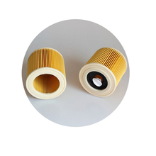 2PCS/LOT, for Karcher A & WD Series  A2004 A2054 A2204 A2656 WD2.250 Wet & Dry Vacuum Hoover Filter Replacements Filters