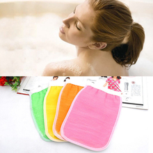 1Pc Back Scrub Gloves Exfoliating Body Massage Shower Scrubber Exfoliating Sponge Wash Skin Spa Bath Glove Accessories For Bath