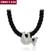 Top Quality Cute koala Rose Gold Color Pendant Necklace Jewelry Austrian Crystal Wholesale ZYN153 ZYN227(China)