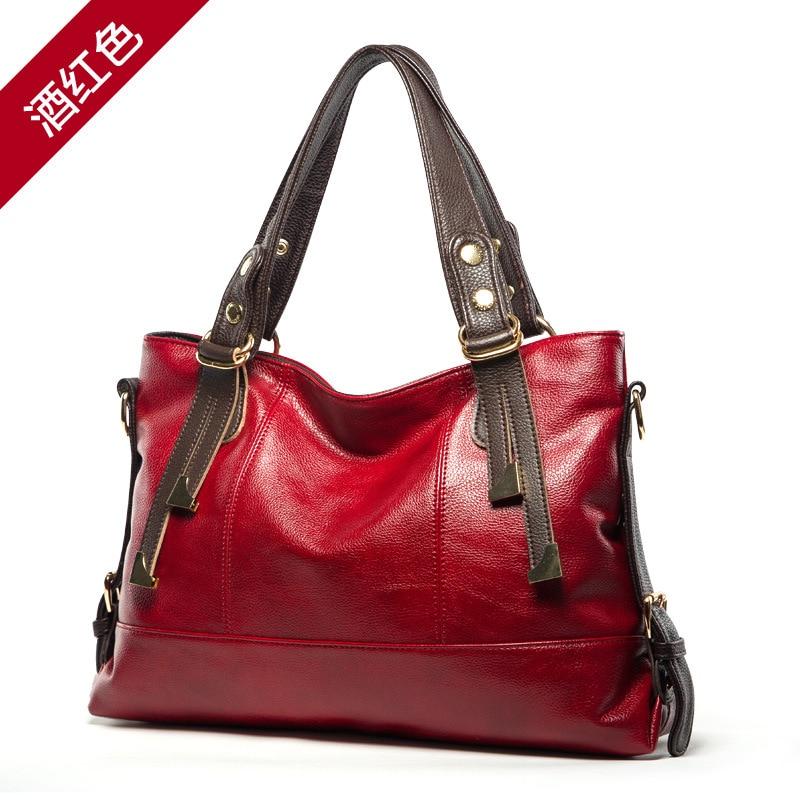 2017 Winter New Fashion European and American Women Leather Handbags Tote Bag Ladies Shoulder Messenger Bags High Capacity bolsa<br><br>Aliexpress