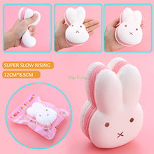 2017 12CM Jumbo Kawaii Squishy Miffy Rabbit Head Soft Cute Animal Slow Rising Bread Cake Sweet Scented Kid Toy Gift Wholelsales(China)