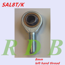 10 pcs Free Shipping 8mm Rod End  SAL8T/K POSL8A GAR8UKL male left hand threaded ball joint