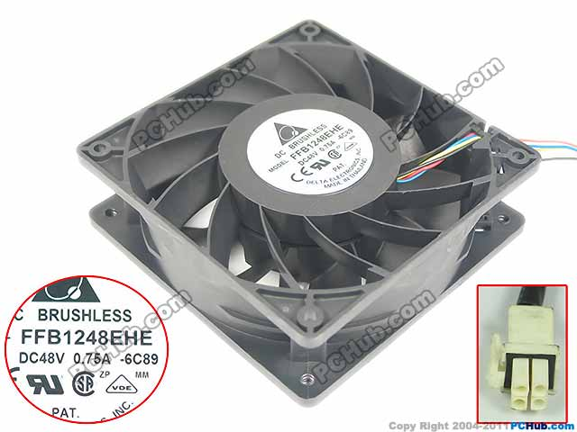 Delta FFB1248EHE 6C89 DC 48V 0.75A 120x120x38mm Server Square fan<br>