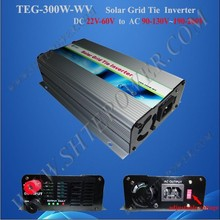 300w grid tie power inverter for 22v-60v solar panel for 110v 220v 230v 240v country, micro inverter solar