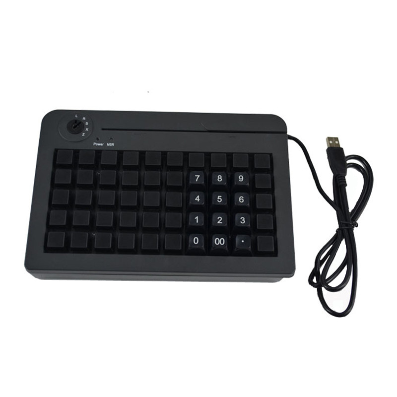 KB50 With 50 switches All keys can be programmed with 255 characters 6 segment electronic keylock POS Keyboard