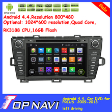 Cortex A9 Dual-Core Android 4.4 Car DVD For PRIUS 2009 2010 2011 2012 2013 left driving With GPS Bluetooth Map
