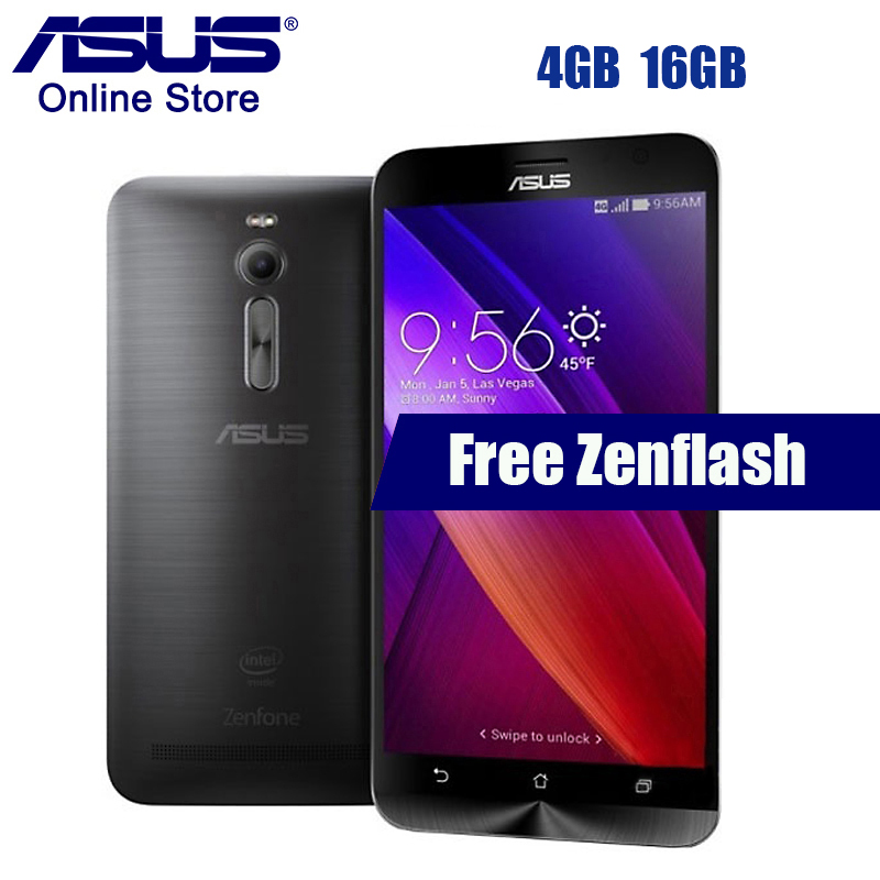 "Asus Zenfone 2 ZE551ML 4GB RAM 16GB ROM Smartphone Intel Z3560 1.8GHz Android 5.0 1920x1080 5.5"" Dual SIMs Mobile Phone In Stock(China)"
