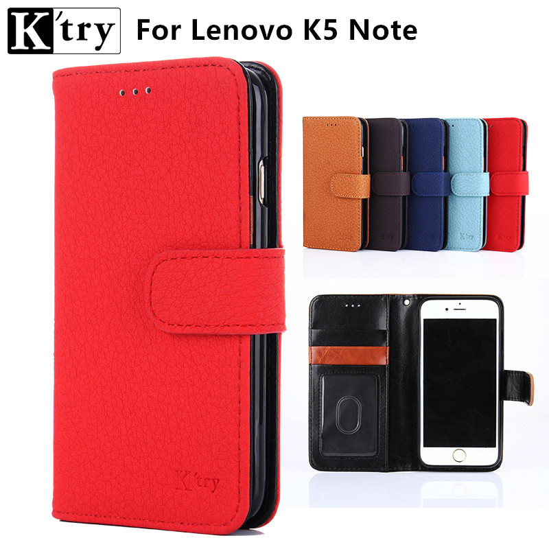 Luxury Coque Lenovo Vibe K5 Note Wallet Flip Cover Card Slots Holder Cover Lenovo K5 Note