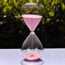 30 Minutes Creative Colorful Crystal Transparent Hourglass Sandglass Glass Sand Timer Clock Home Decor Wedding Decoration Gifts(China)