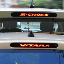 Carbon Fiber Stickers And Decals High Mounted Stop Brake Lamp Light  Car Styling For Suzuki Vitara S-cross Scross Accessories