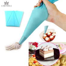 "LIMITOOLS 1pcs Portable 13"" Reusable Silicone Icing Piping Cream Pastry Bag Cake DIY Decorating Tool hot search(China)"