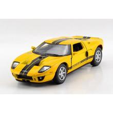 Children Kids Kinsmart 2006 Ford GT Model Car 1:36 KT5092 5inch Diecast Metal Alloy Cars Toy Pull Back Present Gift(China)