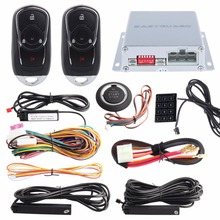 Lock / Unlock PKE car alarm system touch password entry push button start & remote engine start stop touch password entry