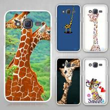Giraffe Hard White Case Cover for Samsung Galaxy J1 J2 J3 J5 J7 C5 C7 C9 E5 E7 2016