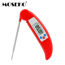 MOSEKO Hot Sale BBQ Thermometer Meat Folding Digital Oven Food Kitchen Thermometer Milk Probe Water Oil Liquid Cooking Tools(China)